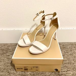 Michael Kors White Heels size 9.5 M - Wore Once